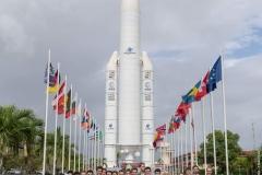 L'ENSMA devant le Centre Spatial Guyanais